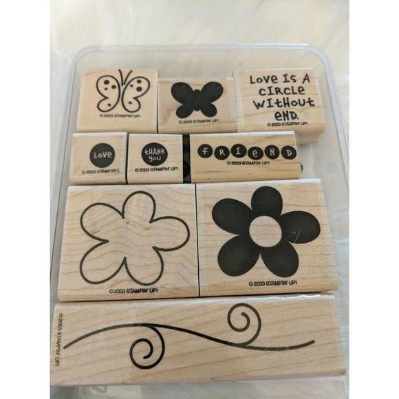 STAMPIN' UP! Love Without End Wooden 9